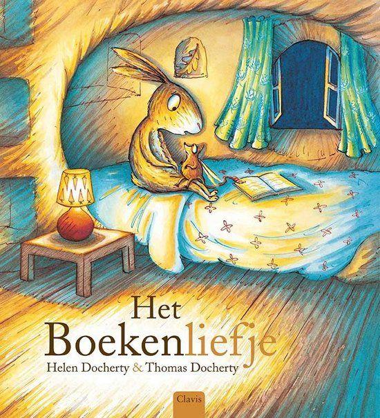 Het boekenliefje: In elk huis, bij alle dieren, wordt er 's avonds voorgelezen. Maar dan beginnen alle boeken te verdwijnen. Een dapper konijntje wil het mysterie van de verdwenen boeken oplossen, en ontdekt dat er een verdrietig klein boekendiefje rondsluipt. Het boekendiefje wil heel graag een boekenliefje zijn en zoekt iemand die hem wil voorlezen.