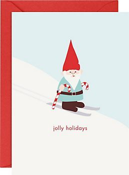 Gnome 4 bar Holiday Cards