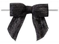 Jute strikken 8 x 6 cm, zwart, per stuk - Kimya verpakkingen