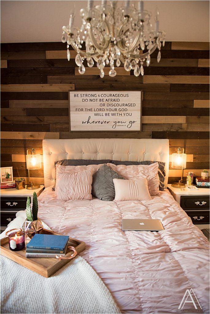 DIY Pallet Wall Bedroom Makeover | Pallet wall bedroom ...