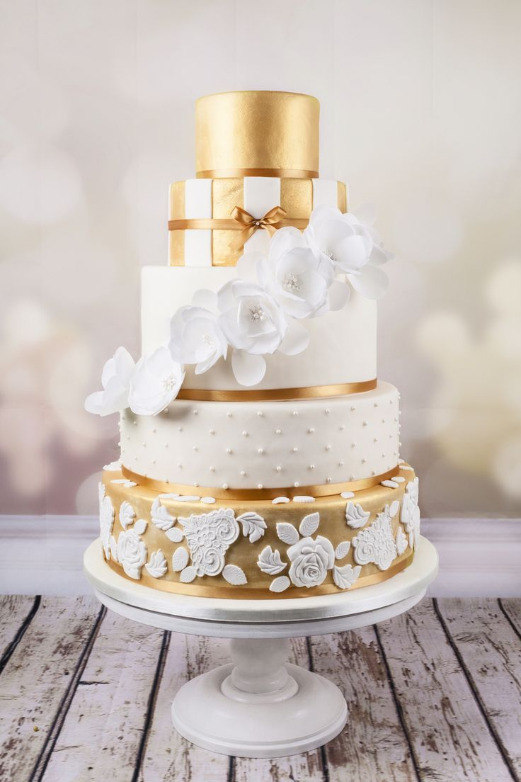 Glam gold wedding cake  Grace Couture Cakes