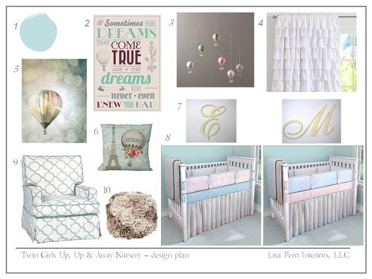 Twin Girl Nursery Design Plan | Lisa Fero Interiors