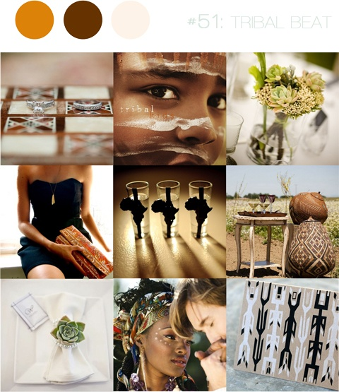 Earthy copper and brown inspiration for a tribal african wedding