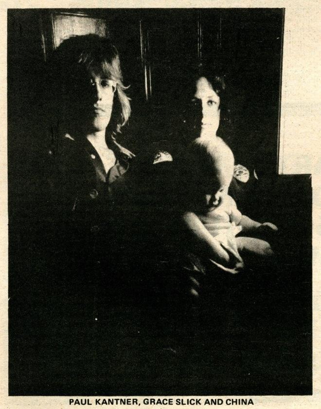 Grace Slick, Paul, and China Kantner {1971}