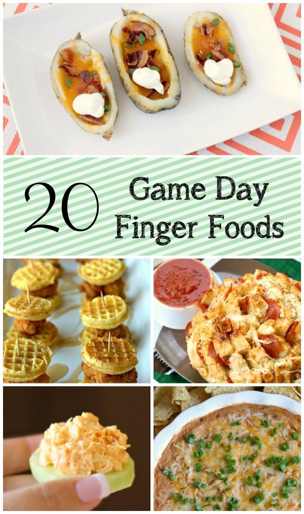 20 Game Day Finger Foods | Momma Lew | Pinterest | Finger