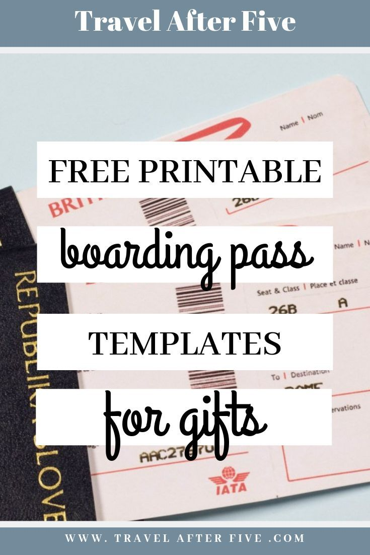 5 Free Boarding Pass Templates For Gifts Boarding Pass Template Ticket Template Free Ticket Template Free Printables