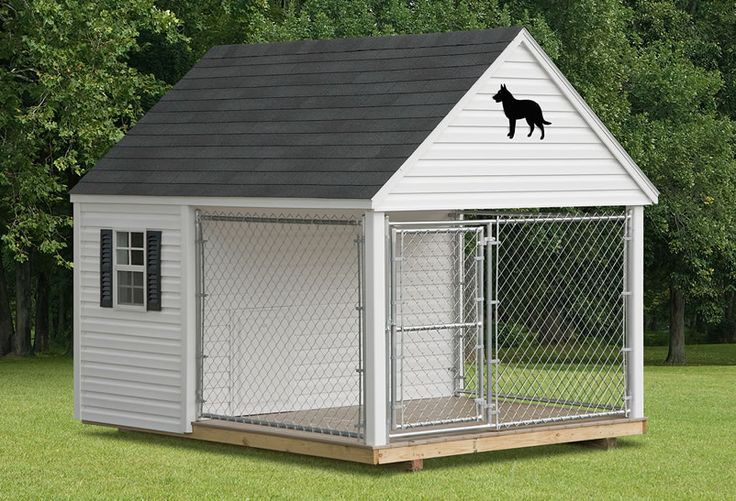 Dog Kennels :: Dog Kennel (6' to 8' Wide) - Amish Backyard Structures