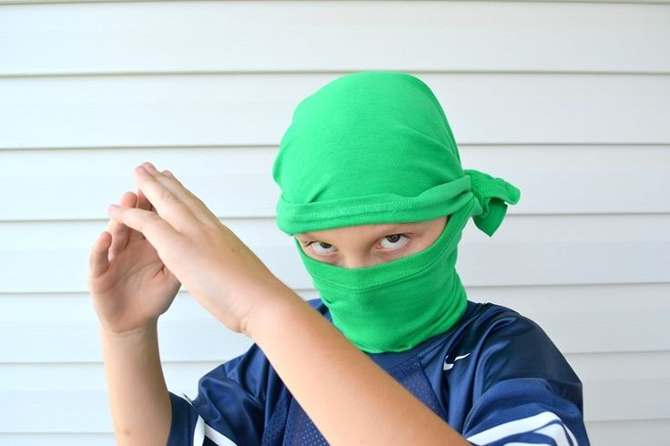 how to use a t-shirt to make a ninja mask (and other Ninjago birthday party ideas)