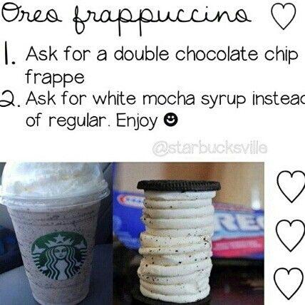 Starbucks secret menu! I really wanna try this now!