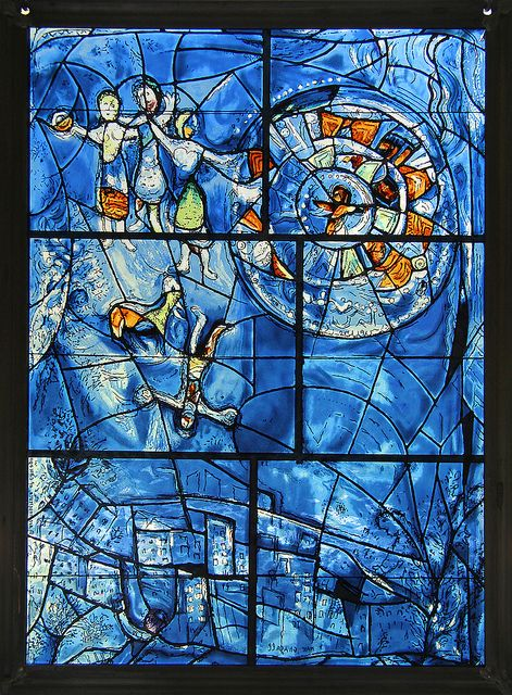 Chagall: The first time I saw this stained glass, I was rooted to the spot for two hours. It is simply mesmerizing.