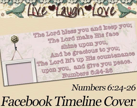 Bible Verse Facebook Timeline Cover  by MKLiveLaughLoveShop, $2.00