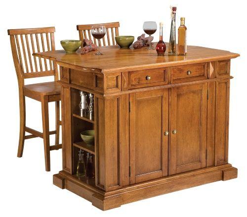 Home Styles Cottage Oak Finish Large Kitchen Island - Kitchen Islands and Carts at Hayneedle