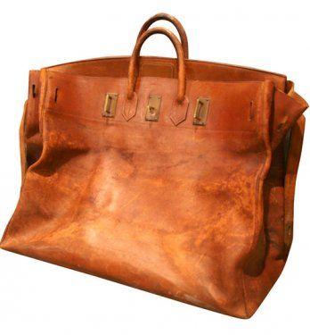Giant Hermès Birkin Leather Travel Bag, 1940