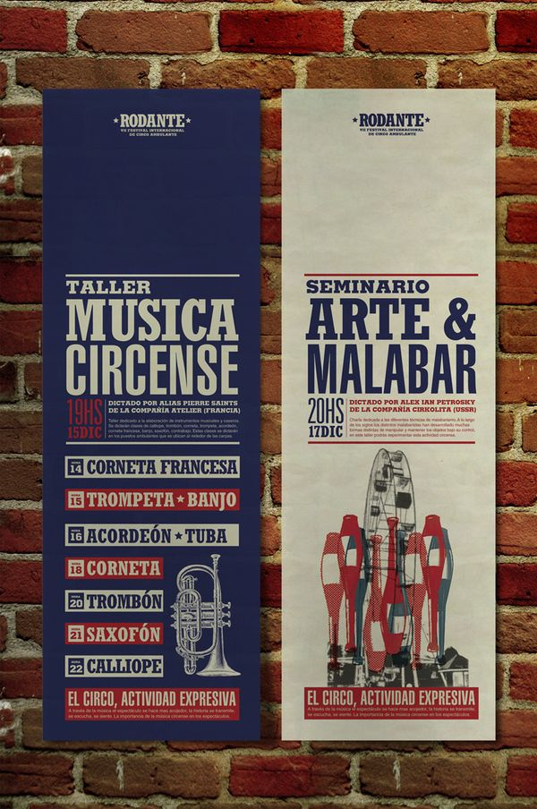 #  Rodante  Festival internacional de circo ambulante  #  Afiche programático institucional