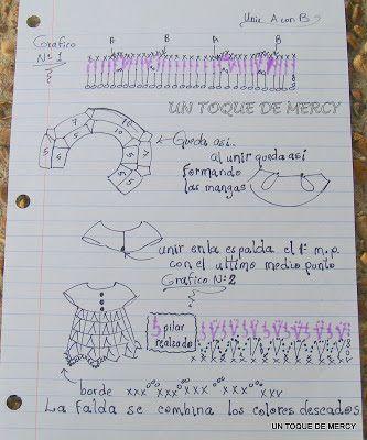 Vestido - mini dress crochet