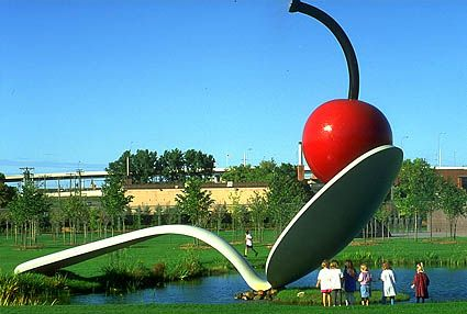 The Giant Cherry in the Giant Spoon - Sculpture Garden in Minneapolis MN.  This place holds some very dear memories....