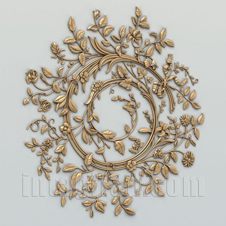3D-model of decorative сeiling socket for gypsum making for CNC carver (STL)