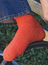 Basic Crocheted Socks  By: Lion Brand Yarn for Canadian Living           These Basic Crocheted Socks are great to make. They're versatile and allow you to brush up on your crochet skills. These are an easy crochet pattern you can give to a friend or keep for yourself. Use Lion Brand wool yarn to complete this free crochet pattern, and make one in every color. Warm feet are happy feet during the cold winter months!