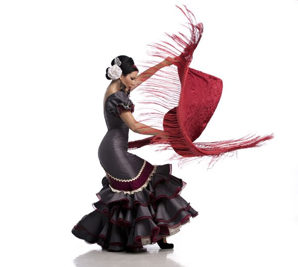 Karen Flamenco by David Cooper. Love the action shot with the manton.