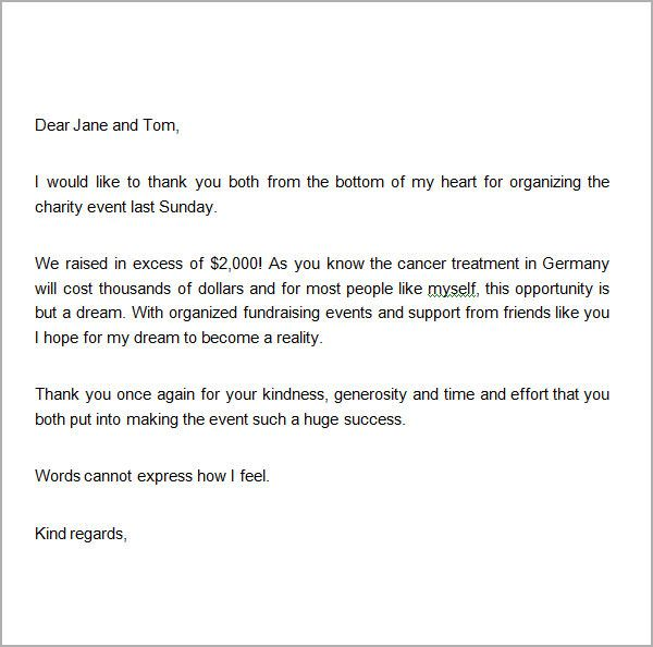 Thank You Letter Template To Donors In 2020 Donation Letter