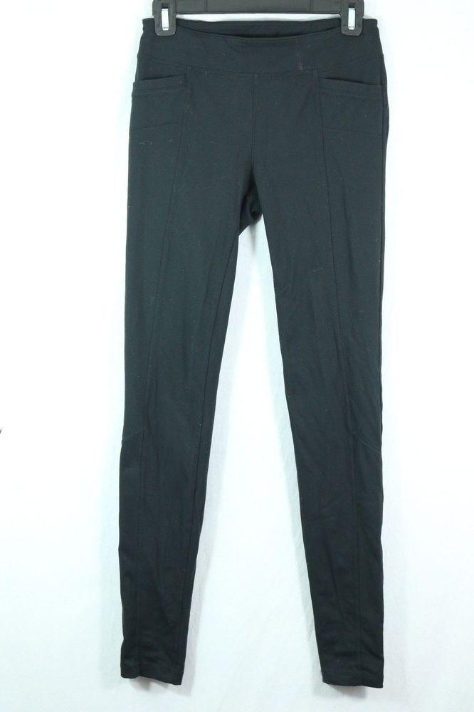 dcbfdca4b2 Athleta Black Yoga Leggings Small Tall Back Pocket Ponte Knit Stretch Pants  #fashion
