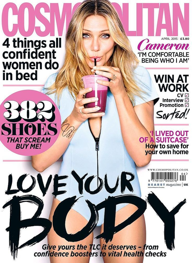 Cameron Diaz on the cover of Cosmopolitan UK April 2015