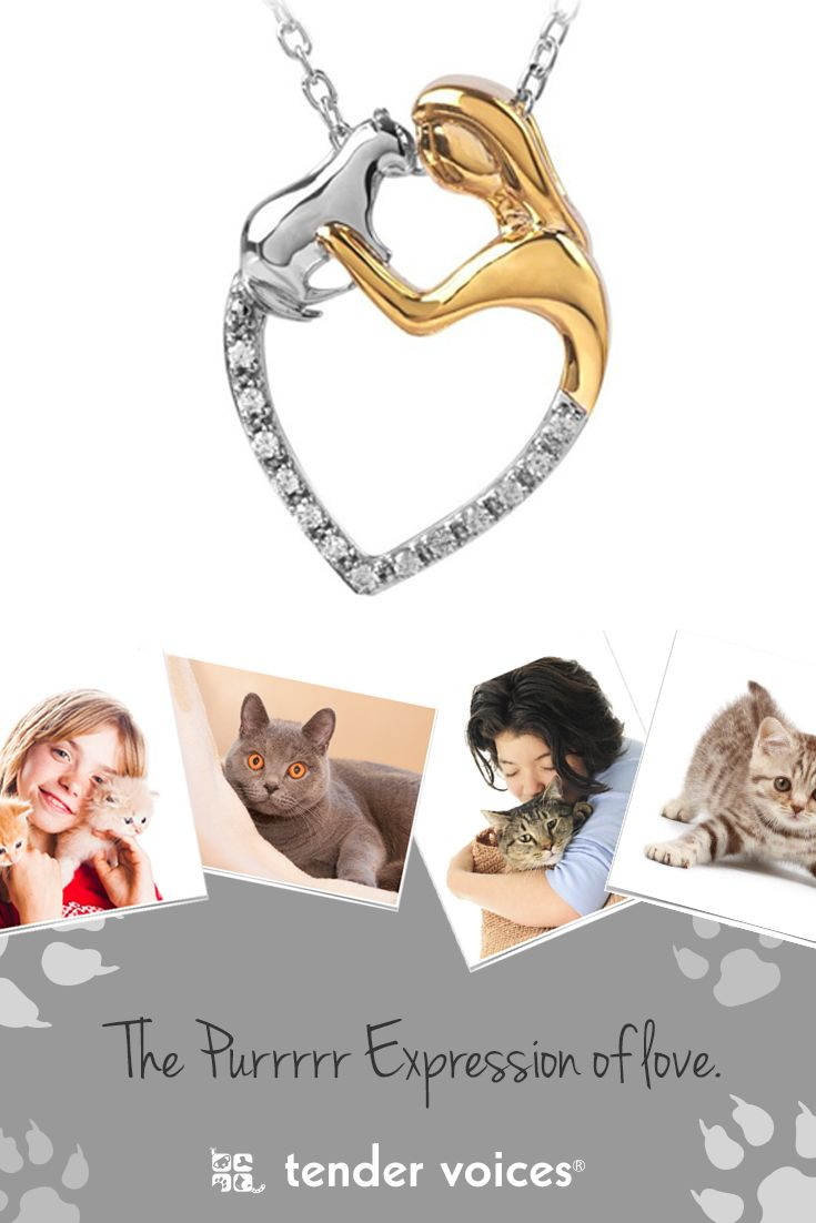 Beautiful Two Tone Diamond Lady & Cat Heart Pendant. Has a total diamond weight of .07 ct. A portion of the proceeds for this purchase goes to the ASPCA. Great gift idea for that someone special on their Birthday.