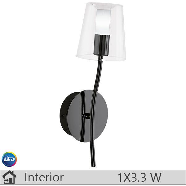 Aplica LED iluminat decorativ interior Eglo, gama Noventa, model 95007 http://www.etbm.ro/