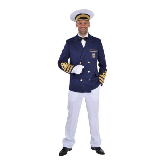 Blauwe kapiteins jasje heren  Kapiteins jassen. Blauwe kapiteinsjas voor heren. Luxe kapiteinsjassen in het blauw met gouden accenten. Tevens hebben wij ook kapiteinshoeden in ons assortiment om kapiteins outfit compleet te maken.  EUR 52.95  Meer informatie