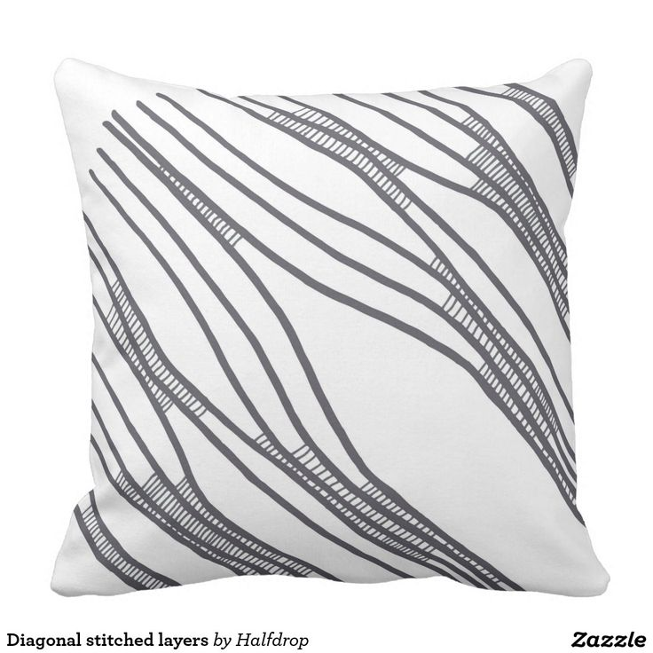 Diagonal stitched layers pillow