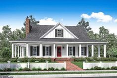 3 Bed Country House Plan With Full Wraparound Porch - 51748HZ   1st Floor Master Suite, CAD Available, Cottage, Country, Craftsman, Den-Office-Library-Study, PDF, Southern, Traditional, Wrap Around Porch   Architectural Designs