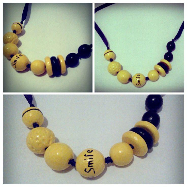 clay beads, sunny