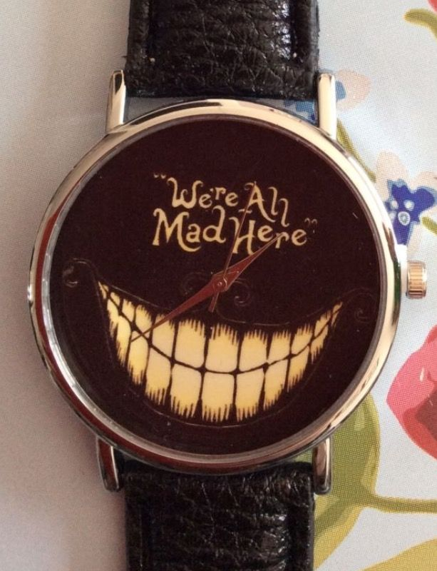 "Black Faux Leather Strap - ""We're All Mad Here"" Watch #style #men #ladies #present #gift #black #fauxleather #leather #strap #watch #watches #wrist #wristwatch #accessories #scary #teeth #mad #creepy #quirky #fashion #style http://m.ebay.co.uk/itm/Black-Faux-Leather-Strap-Mad-Women-Wrist-Watch-Ladies-Xmas-Scary-Teeth-/282418613604?nav=SELLING_ACTIVE"