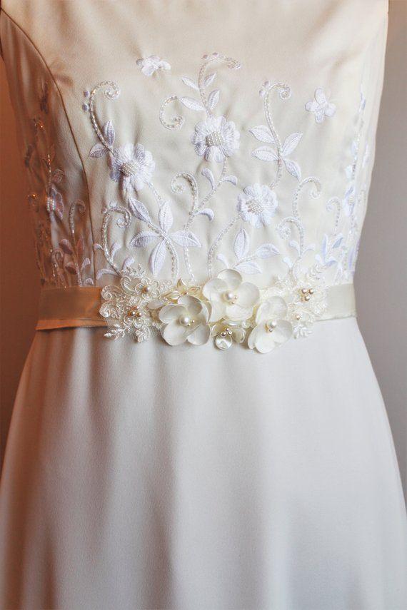 Ivory Bridal Belt Bridal Sash Wedding Dress Belt Sash Floral Etsy Wedding Dress Sash Belt Wedding Dress Belt Bridal Belt