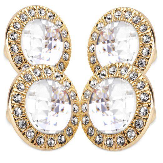 4er Design Bling Kristall Diamant Möbelknöpfe Möbelgriffe Möbelknauf MöbelKnopf Goldene Fassung