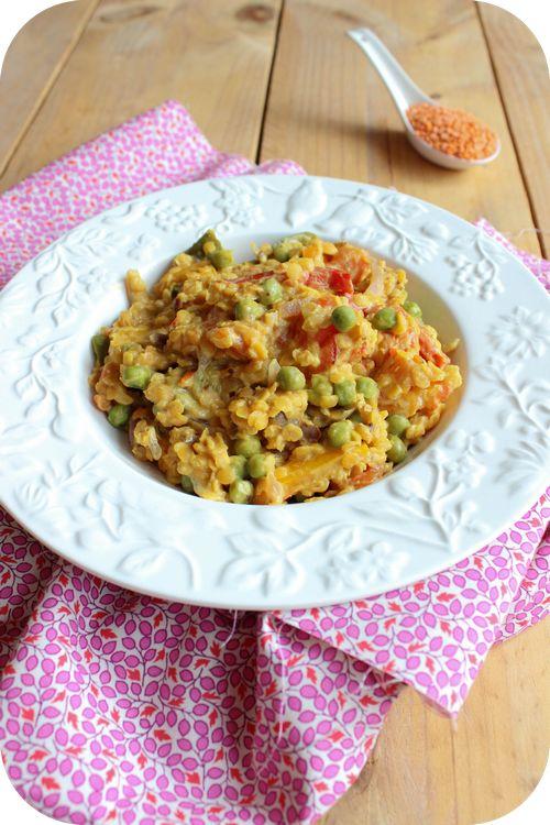 Curry de lentilles corail, poivrons et petits pois (1)