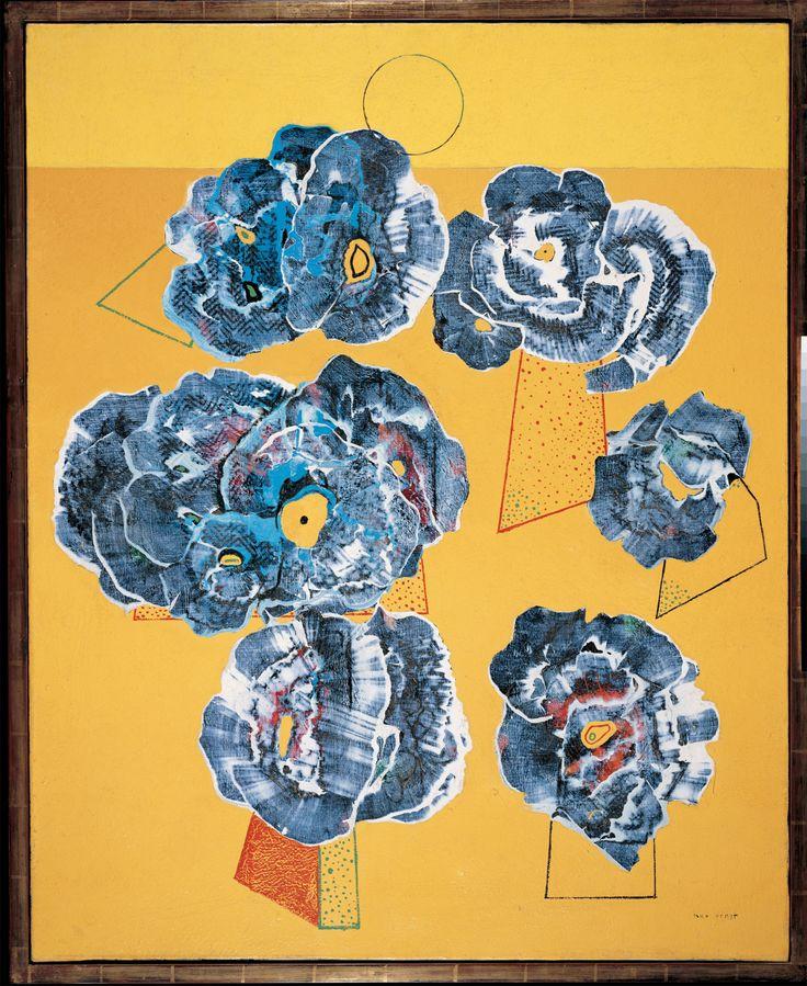 Max Ernst(German, 1891-1976)  Flowers on the yellow background (Blumen auf gelbem Grund), 1929 Kunstmuseum Liechtenstein