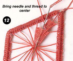 Needleweaving with Irish Waxed Linen
