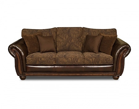 Sofa Pillows The Zephyr Vintage Sofa Collection a tobacco colored beaut with bonded leather and chenille bicast