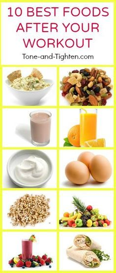 10 of the best foods to eat after your next workout! From Tone-and-Tighten.com