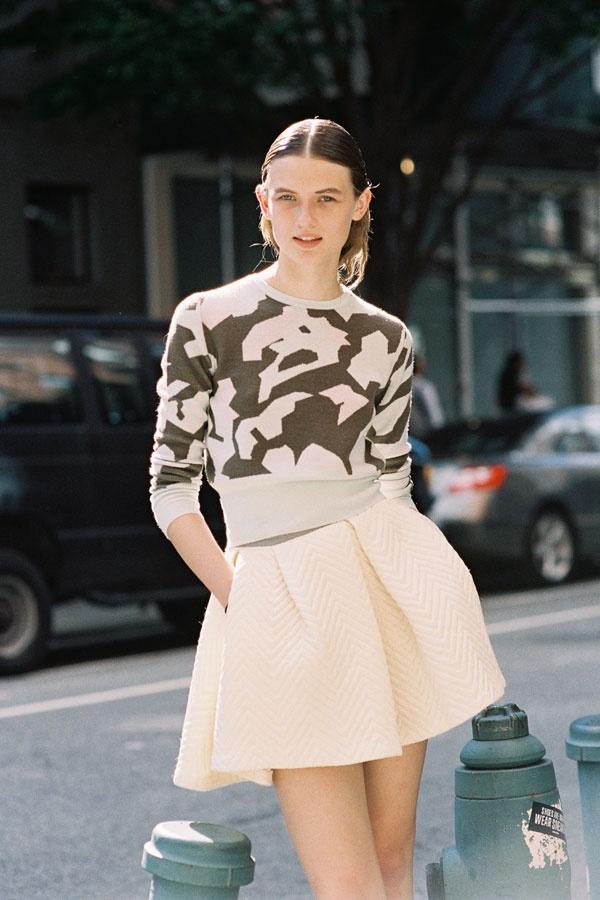British model Lara Mullen (Premier), after A Show, NYC, September 2012. Love