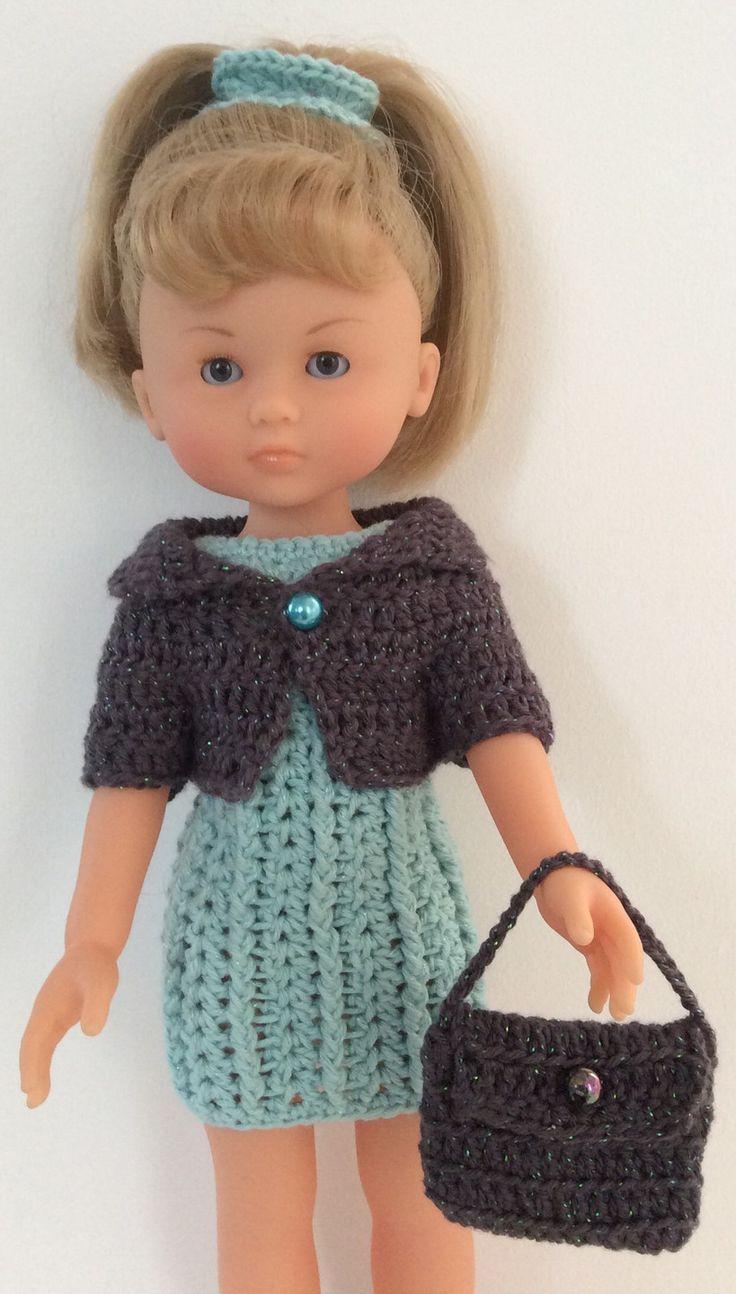 Tenue au crochet : poupées 32 - 33 cm Paola Reina, Chérie Corolle, Little…