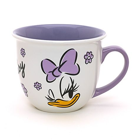 Daisy Duck Faces Character Mug.  Daisy is popular in Disneyland Paris.  Only Disney Store UK.  And they don't ship to USA.  Boo!