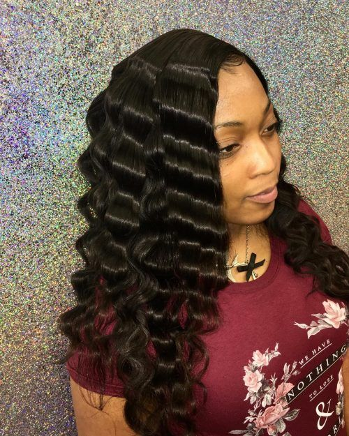 Crimped Hairstyle for Black Hair | Hair and Makeup in 2019 | Crimped ...