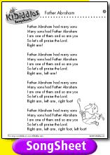 Father Abraham lyrics, have to teach this to niece and nephew!