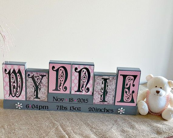 25 unique baby name blocks ideas on pinterest name boxes diy personalized baby name blocks unique baby gift by timelessnotion negle Choice Image