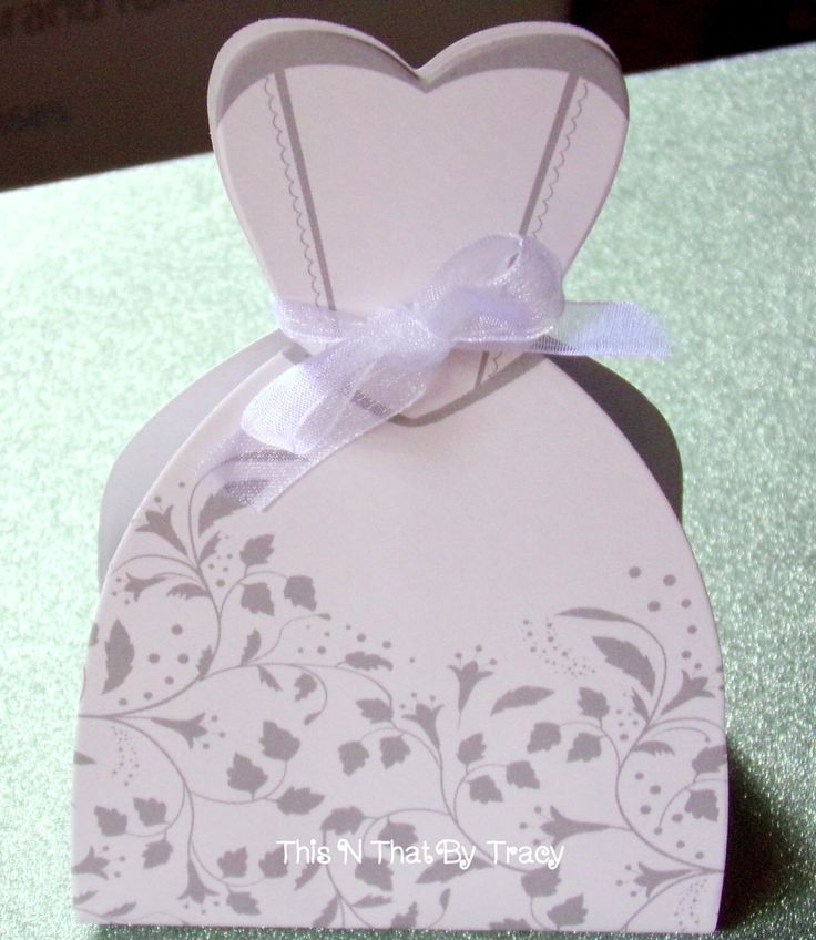 Bridal Dress Favor Box,Wedding Dress Favor Box,Bridal Shower Favor Boxes.Wedding Supplies. Sets of 10 with Ribbon. by ThisNThatByTracy on Etsy https://www.etsy.com/listing/213865913/bridal-dress-favor-boxwedding-dress