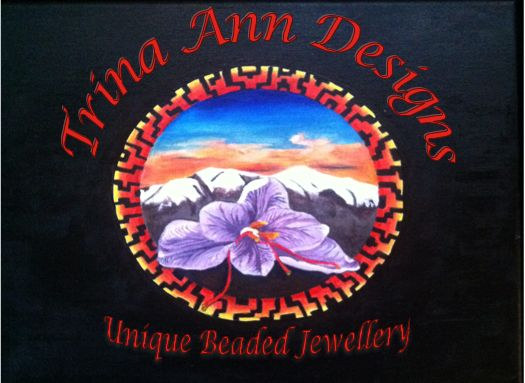 My logo, the background painting is of the mountain range I am now living amongst and the saffron my partner and I grew. http://trina-ann-designs.myshopify.com/