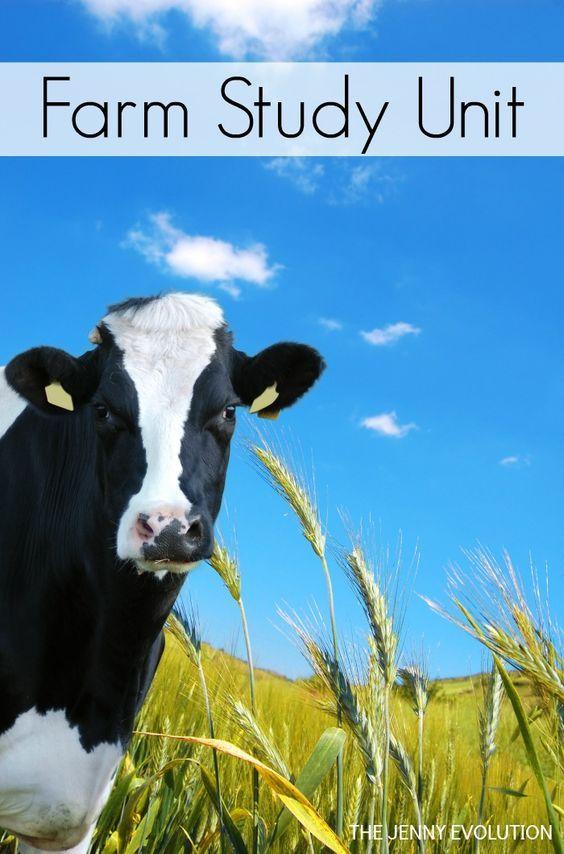 FREE Farm Study Unit Resources for Homeschool or Classroom + Non Fiction Farm Books for Kids