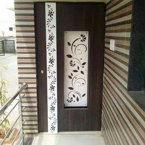 house main door flower design  | 882 x 1300